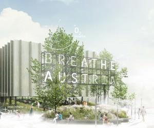 Expo 2015, padiglione austriaco: Edificio e bosco raggiungono il loro punto più alto