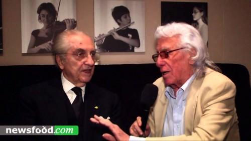 85 primavere, di Gualtiero Marchesi con l'amico Cino Tortorella, il Mago Zurlì