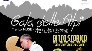 Galà delle Alpi: Sabato 11 aprile al Muse di Trento