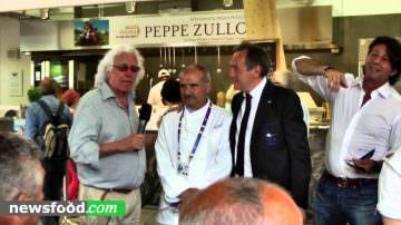 Nazionale Italiana Ristoratori da Peppe Zullo con Farinetti a Expo 2015 (Video)