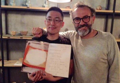 Mingoo Kang e Massimo Bottura