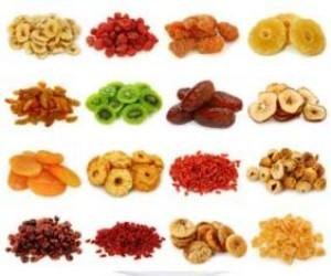 La caramella del futuro: Frutta disidratata tagliata a cubetti, rondelle e bastoncini