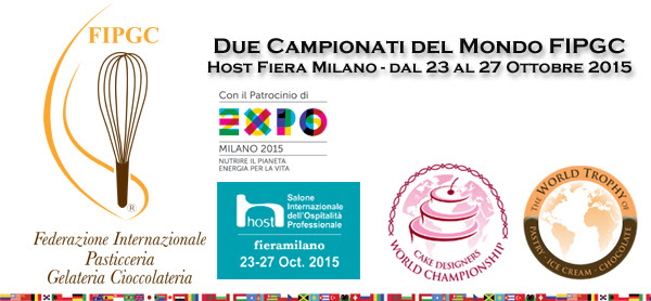 Milano, 24 e il 25 ottobre: Prima edizione dei Campionati Mondiali di Pasticceria, Gelateria e Cioccolateria promossi da FIP