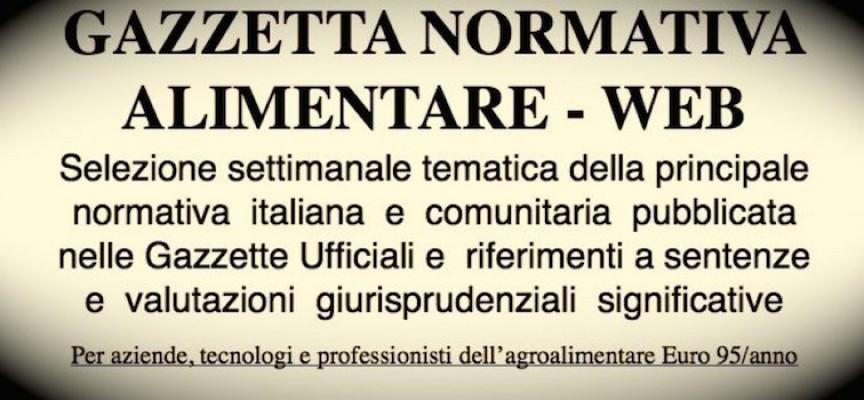 Gazzetta Normativa Alimentare Web n° 33: Settimana 17/8/2015 – 22/8/2015)