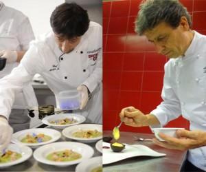 Gli chef stellati Sandro e Maurizio Serva ospiti a Villa Lario Euro-Toques