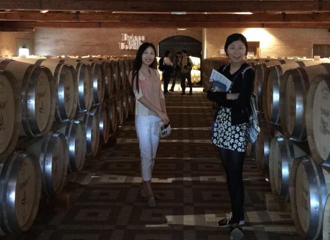 Giornalisti del magazine cinese THE BUND in visita alle Cantine Braida