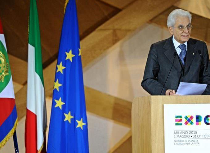 Sergio Mattarella a Expo: urge una legge antispreco