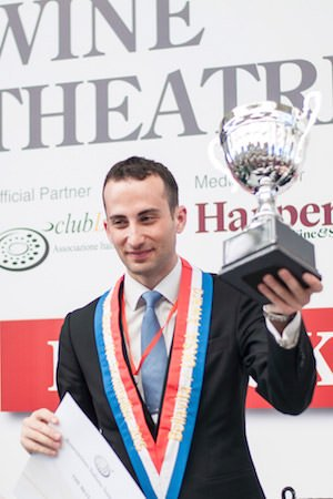 Vincenzo Arnese - Vincitore Best UK Sommelier  2015'