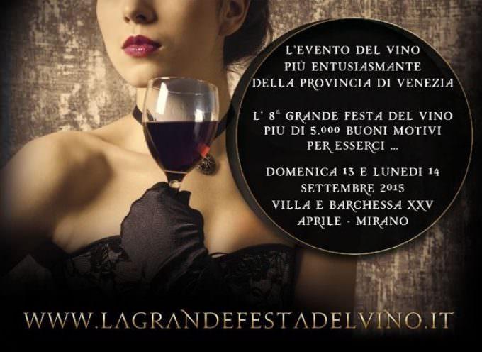 Mirano (VE): ottava edizione della Gran Festa del Vino