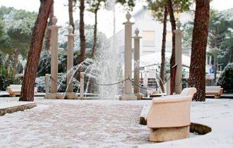 Madonna di Campiglio porta la neve a Milano Marittima