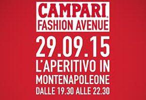 Milano: Martedì 29 settembre appuntamento con Campari Fashion Avenue