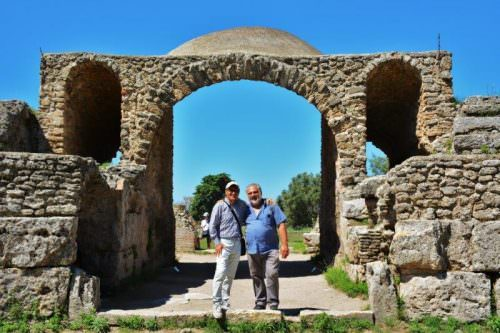 Paestum: Gerardo Siano con Giuseppe Danielli