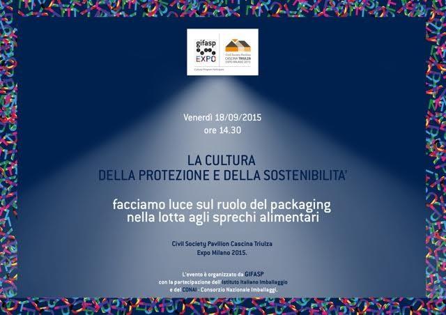 Expo, 18/9: Convegno sul ruolo del packaging nella lotta agli sprechi alimentari