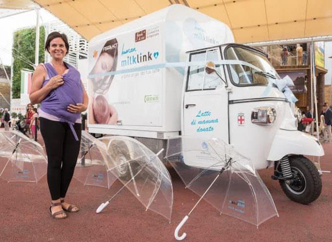 Human Milk Link: Il latte materno donato viaggia su un'ape car con cella frigorifera