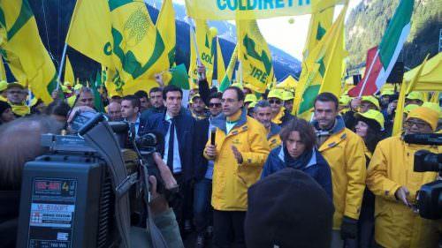 Il Ministro delle Politiche Agricole Forestali Maurizio Martina al Brennero