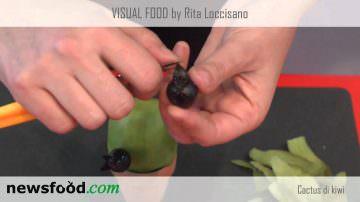 Visual Food di Rita Loccisano: come fare un cactus di kiwi (videoricetta)