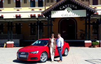 Nuova Audi A4 vendemmia consensi alla Cantina Collalto