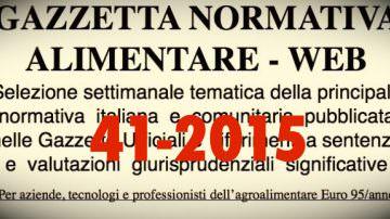Protetto: Gazzetta Normativa Alimentare Web n° 41 – 2015 (19 – 24 ott.)