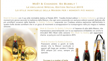 Moët & Chandon per il Natale 2015: So Bubbly limited