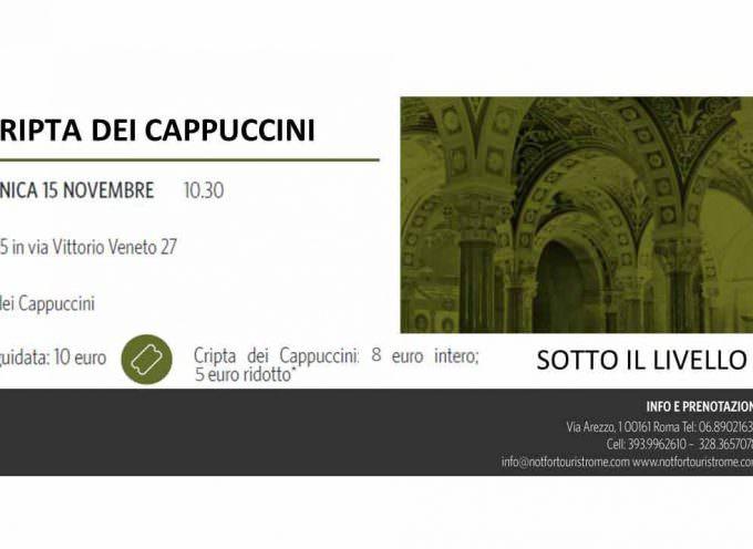 Domenica 15 novembre visita alla Cripta dei Cappuccini