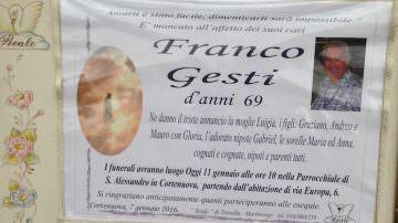 E' morto Franco Gesti: un eroe della vita quotidiana di oggi