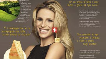 Ricette del cuore di Michelle Hunziker, testimonial di Emmentaler DOP