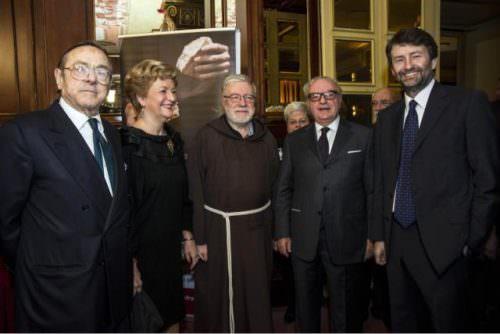 da dx : Dario Franceschini, Achille Colombo Clerici, Fra Maurizio Annoni, Ombretta Fumagalli Carulli, Mario Mancini