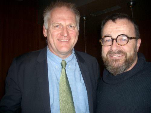 l'editore Gregor Rankin e lo chef Giancarlo Morelli