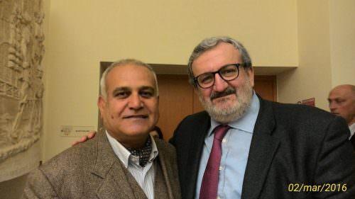 Hossein Arbabi con Michele Emiliano