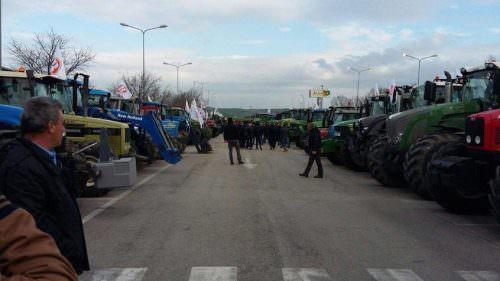 Trattori in protesta ad Altamura