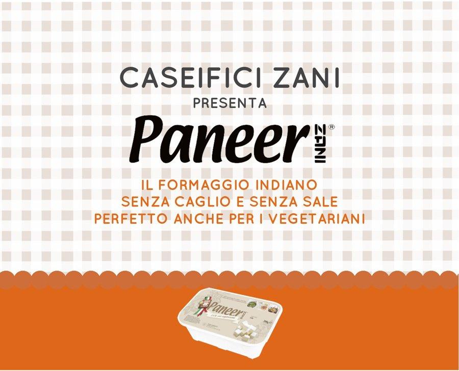 Caseifici Zani presenta una bella idea: il Paneer, formaggio tipico indiano