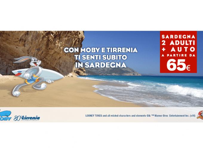 In Sardegna con auto a prezzi superscontati con Moby e Tirrenia