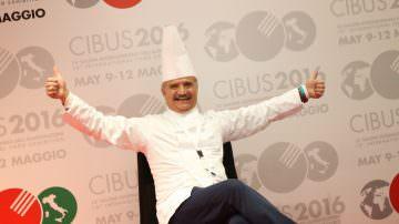 Peppe Zullo, a Cibus 2016, testimonial e promotore della pasta di legumi