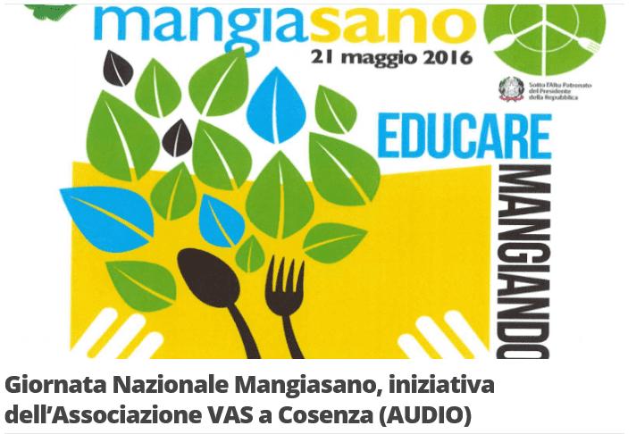 21 maggio 2016: Presentazione dell'XI Edizione della Giornata Nazionale Mangiasano