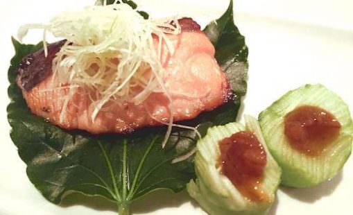 Salmone Misoyaki (col sake) di Kiyo