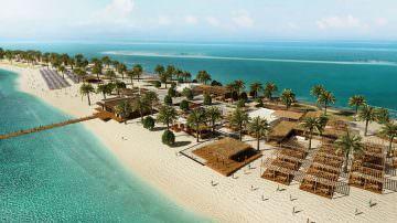 Nuova destinazione per MSC Crociere: La spiaggia-oasi sull'isola di Sir Bani Yas negli Emirati