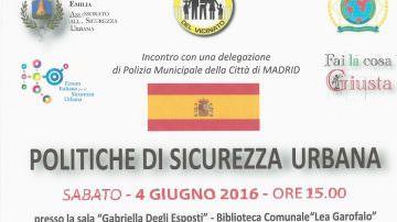 Politiche di Sicurezza Urbana: Castelfranco Emilia 4 giugno 2016