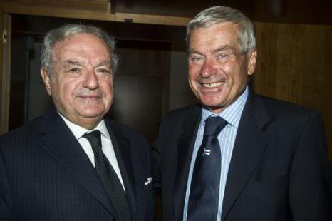 Carlo Sangalli e Achille Colombo Clerici presidente dell' Istituro Europa Asia IEA e di Assoedilizia