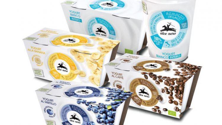 Nuovo Yogurt Alce Nero con latte bio italiano delle Alpi dell'Alto Adige