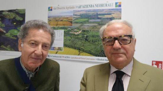 Giuseppe Natta con Achille Colombo Clerici