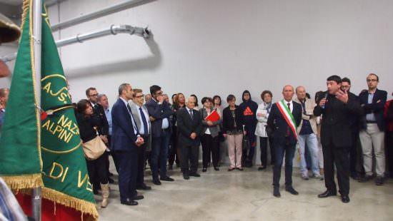 Nicola Fiasconaro - Un momento dell'inaugurazione