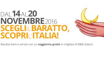 Dal 14 al 20 novembre 2016 ottava edizione della Settimana del Baratto