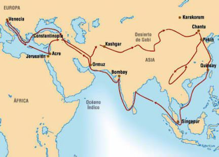 Via della seta di Marco Polo