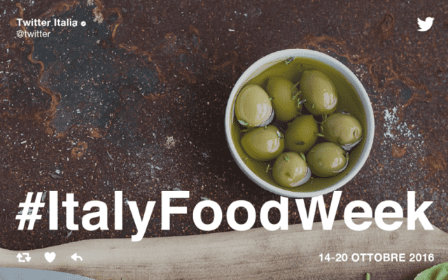 Twitter: #ItalyFoodWeek eccellenze del Made in Italy agroalimentare