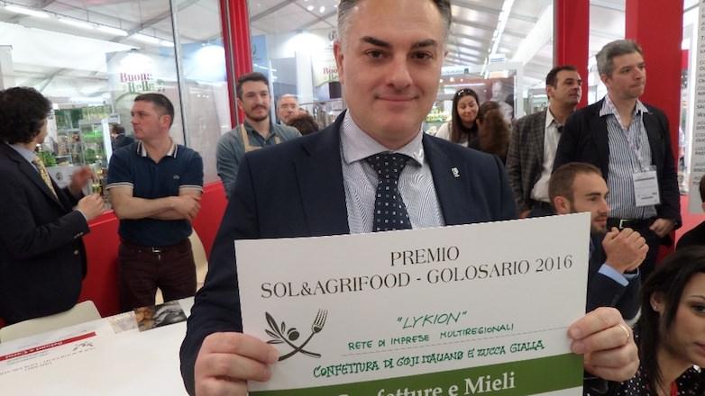 Premio Golosario 2016 al Goji italiano biologico di Rosario Previtera