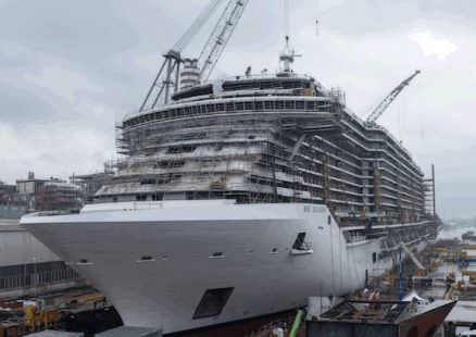 MSC Seaside in allestimento