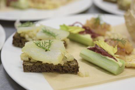 Uno dei piatti realizzati dallo chef Giancarlo Morelli per il Gruppo Elior