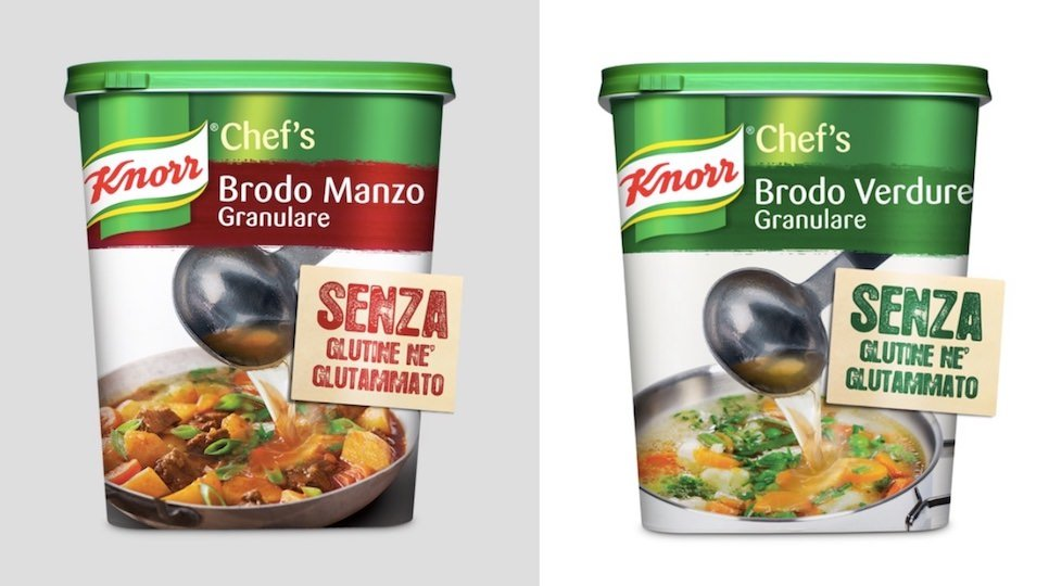I nuovi Brodi Granulari Knorr Senza Glutine di Unilever Food Solutions