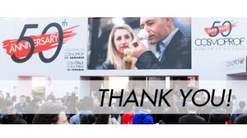 50° Cosmoprof: un altro successo di Bolognafiere