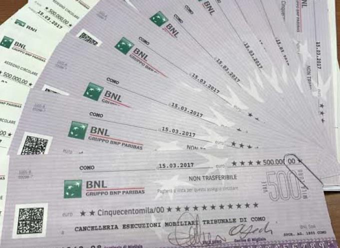 Banche: Boomerang da 10.500.000 Euro per BNL di Como